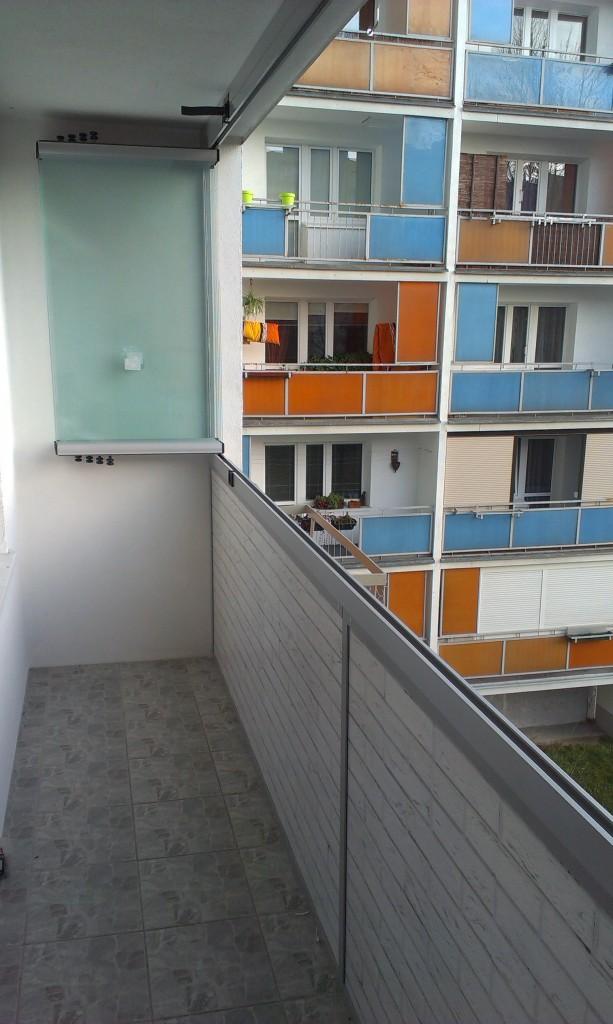 Zabudowa bezramowa balkonu