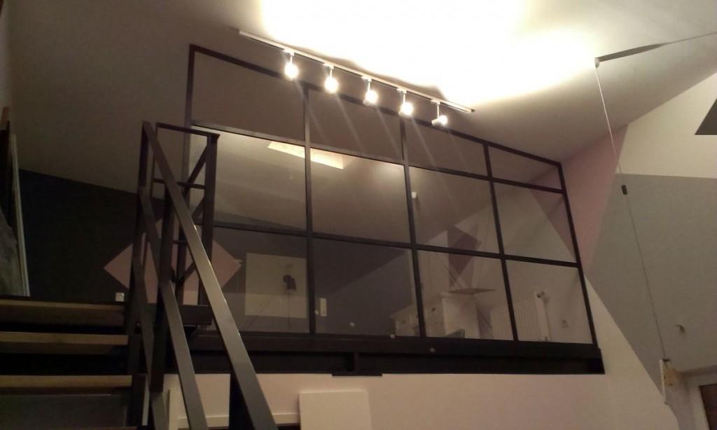 Ścianka w profilach aluminiowych