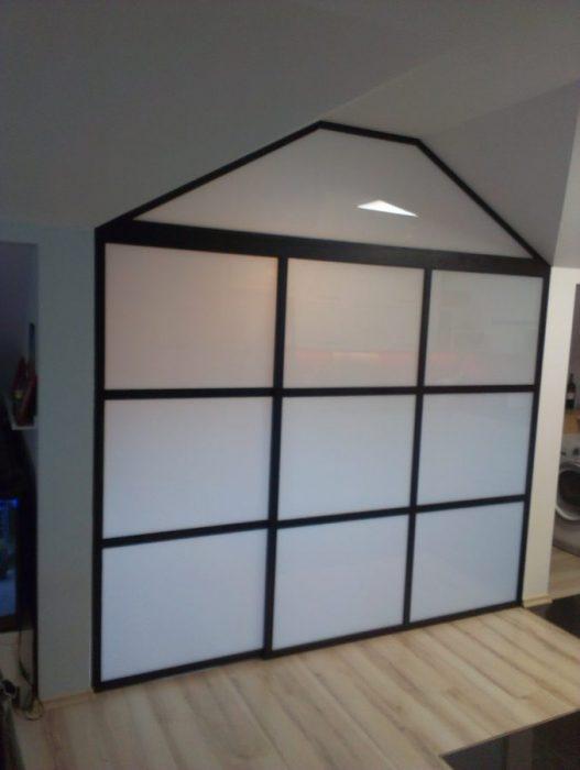Ścianka ze szkła bezpiecznego